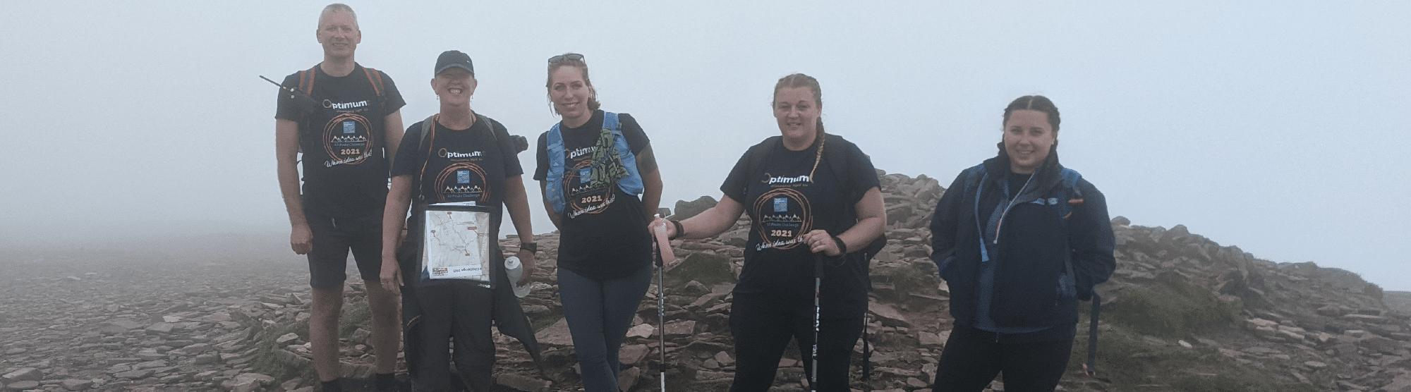 Optimum charity support 10 peaks challenge 2021